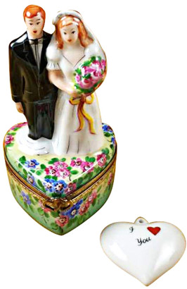 Rochard Limoges Imports Rochard Bride & Groom On Flowered Base