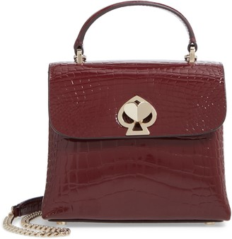 Kate Spade Romy Croc-Embossed Leather Top Handle Bag