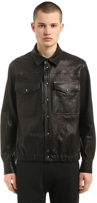 Neil Barrett Leather Shirt Jacket