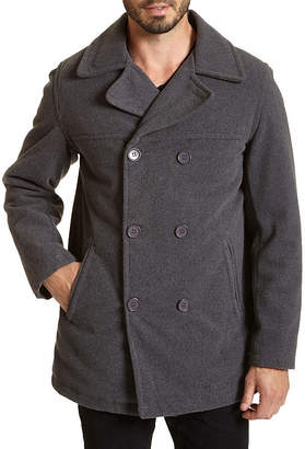 JCPenney Excelled Leather Excelled Peacoat