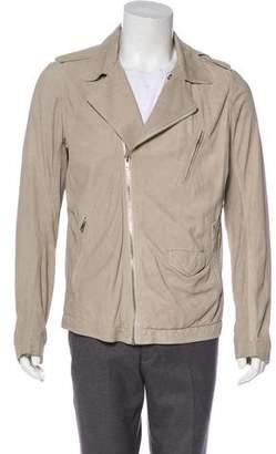 Rick Owens Suede Asymmetrical Moto Jacket w/ Tags