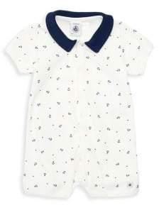 24ae49c7195 Petit Bateau Baby Boy s Anchor Print Romper