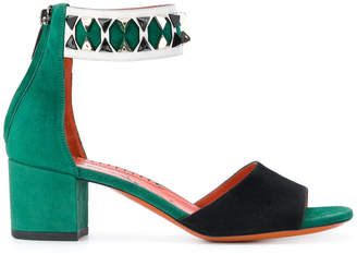 Santoni two-tone sandals