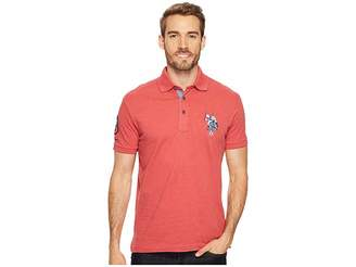 U.S. Polo Assn. Slim Fit Solid Short Sleeve Jersey Polo Shirt Men's Short Sleeve Pullover