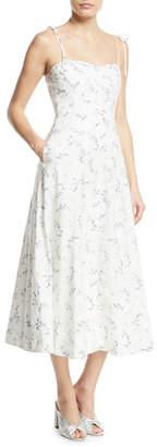 Rebecca Taylor Francine Floral-Print Poplin Tank Dress