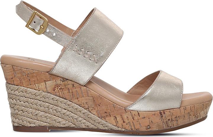 UGGUgg Elena metallic-leather wedge sandals