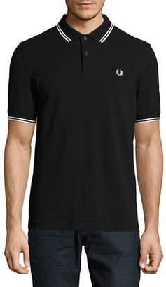 Fred Perry Tipped Pique Cotton Polo