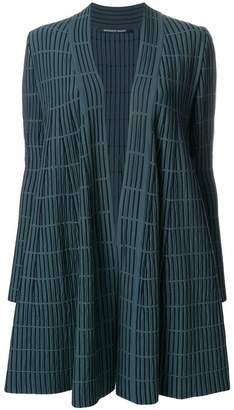Valenti Antonino striped loose crude-coat