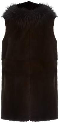 Lilly E Violetta Reversible Fox Fur Gilet