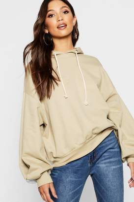 boohoo Balloon Sleeve Hoody