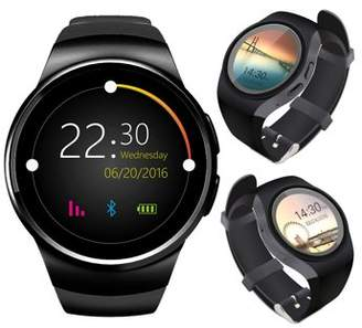 Indigi A18 Bluetooth Sync (iOS & Android Compatible) SmartWatch & Phone + Heart Monitor + Pedometer + Sleep Monitor