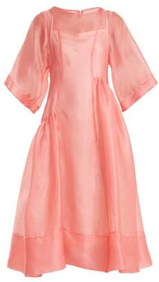 Molly Goddard - Laurelai Silk Organza Dress - Womens - Pink