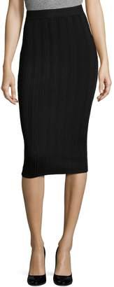 Arc Women's Vanessa Ribbed Pencil Skirt