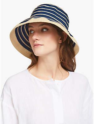33b43c43 John Lewis & Partners Packable Garden Sun Hat, Navy Mix