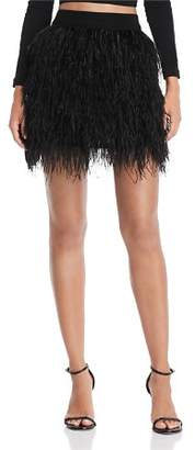 Aqua LUXE Capsule Ostrich Feather Skirt - 100% Exclusive
