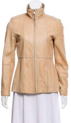 Andrew Marc Zip-Up Leather Jacket