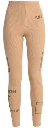 Moschino Printed Ribbed-Knit Wool Leggings