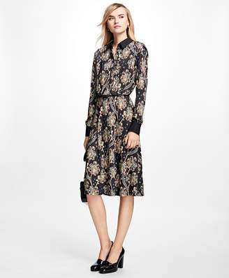 Brooks Brothers Floral Shirt Dress