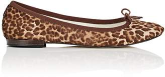 Repetto Women's Cendrillon Leopard-Print Calf Hair Ballet Flats