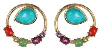 Ippolita 18K Rock Candy Semi-Precious Stone Cluster Round Earrings