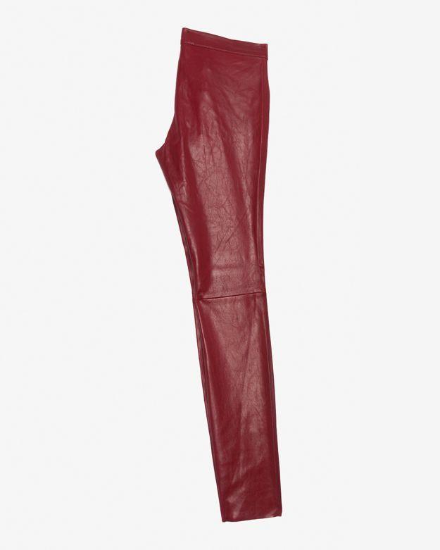 Barbara Bui Zipper Detail Leather Skinny: Ox Blood