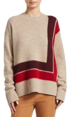 Derek Lam 10 Crosby Wool High-Low Blanket Sweater