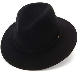 Co Lock and Hatters Nomad Felt Rollable Trilby in Black
