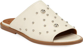 See by Chloe Flat Studded Mule Sandals