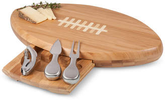 Picnic Time Quarterback Football Cheese Cutting Board & Tools Set