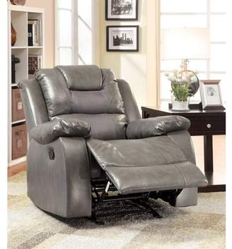 Furniture of America Tompson Traditional Gliding Recliner, Gray