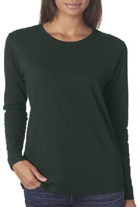 Gildan Misses heavy cotton long sleeve t-shirt. (2X-Large)