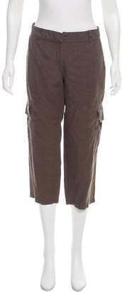 Eileen Fisher Mid-Rise Cropped Linen Pants