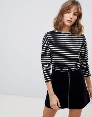People Tree Breton Stripe Long Sleeve Top