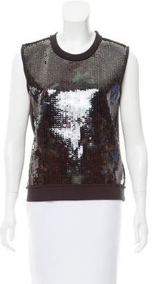 Faith Connexion Sequin-Embellished Sleeveless Top w/ Tags