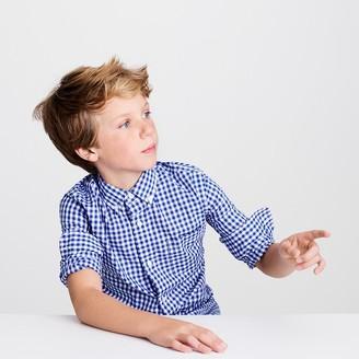 Kids' Secret Wash shirt in navy gingham $42.50 thestylecure.com