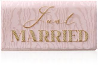 Preciously Paris Just Married Moire Clutch