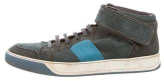 Lanvin High-Top Round-Toe Sneakers