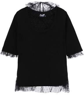 RED Valentino Point D'esprit-paneled Wool Sweater