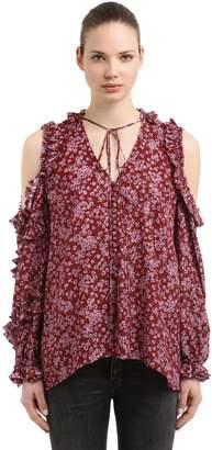 Magda Butrym Floral Print Silk Jacquard Shirt
