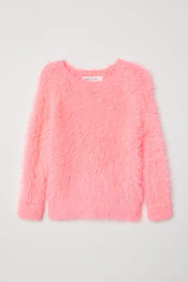 H&M Fluffy Sweater - Pink