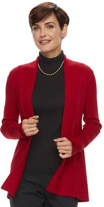 Dana Buchman Women's Ribbed Cardigan Sweater