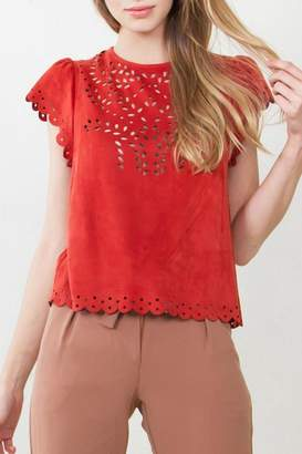 Sugar Lips Suede Top