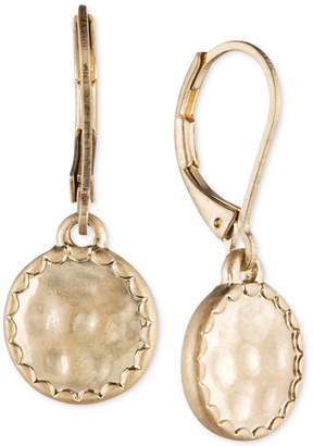 lonna & lilly Gold-Tone Hammered Disc Drop Earrings