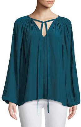 Ramy Brook Paris V-Neck Peasant Blouse
