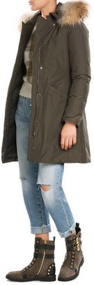 Woolrich Down Jacket with Fur-Trimmed Hood $689 thestylecure.com