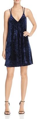 AQUA Crushed Velvet Slip Dress - 100% Exclusive $68 thestylecure.com