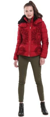 Desigual Short Padded Jacket with Detachable Hood