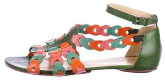 Balenciaga Leather Ankle-Strap Sandals
