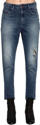Diesel Destroyed Denim Effect Cotton Joggjeans