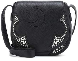 McQ Studded leather shoulder bag